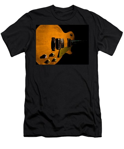 Yellow Relic Guitar Hover Series Men's T-Shirt (Athletic Fit)