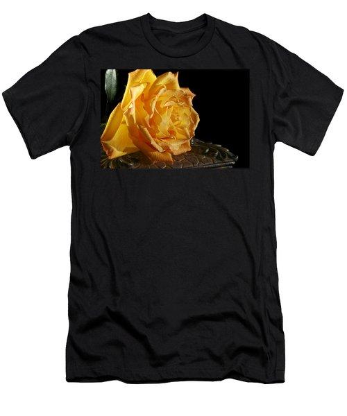 Yellow Rose Men's T-Shirt (Athletic Fit)
