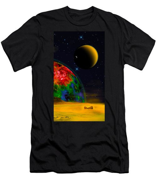 Yellow Sea On Kepler 186d Men's T-Shirt (Athletic Fit)