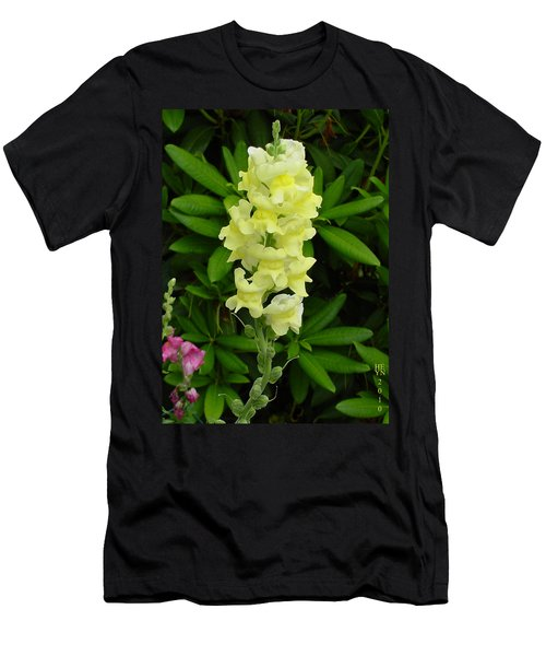 Yellow Snapdragon Men's T-Shirt (Athletic Fit)