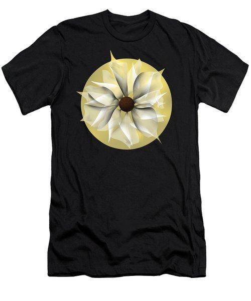 Yellow Soft Flower Men's T-Shirt (Athletic Fit)