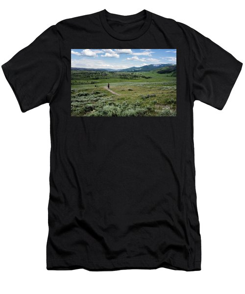 Men's T-Shirt (Athletic Fit) featuring the photograph Yellow Stone Mountains by Mae Wertz