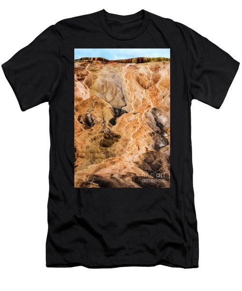 Men's T-Shirt (Athletic Fit) featuring the photograph Yellow Stone National Park Abstract by Mae Wertz