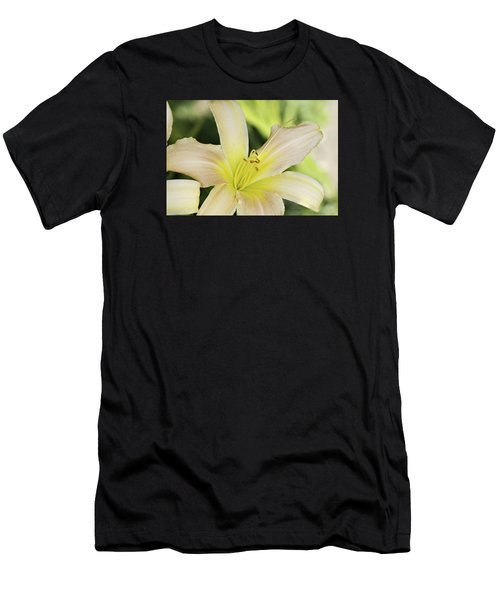 Yellow Tan Lily 1 Men's T-Shirt (Athletic Fit)