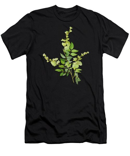 Men's T-Shirt (Athletic Fit) featuring the painting Yellow Tiny Flowers by Ivana Westin