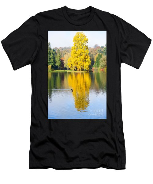Yellow Tree Reflection Men's T-Shirt (Athletic Fit)