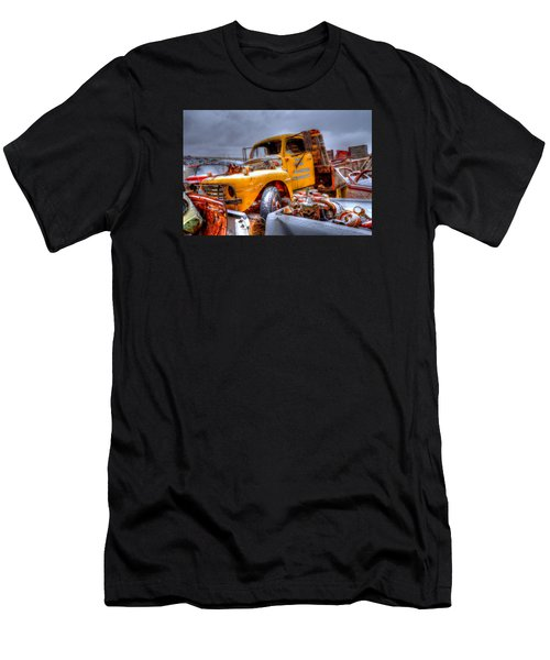 Yellow Truck Men's T-Shirt (Athletic Fit)