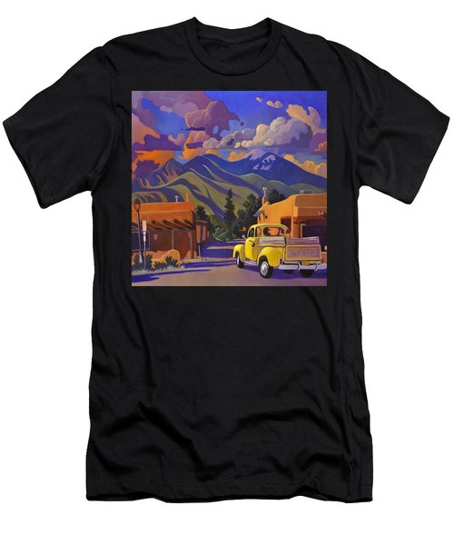Yellow Truck Square Men's T-Shirt (Athletic Fit)