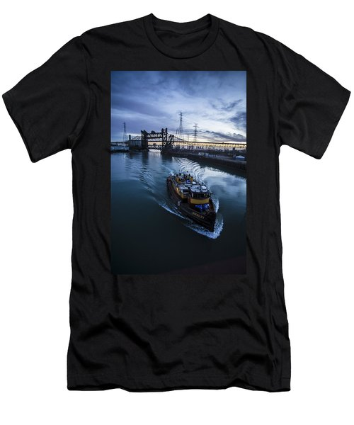 Yellow Tug Boat Approaching  Men's T-Shirt (Athletic Fit)