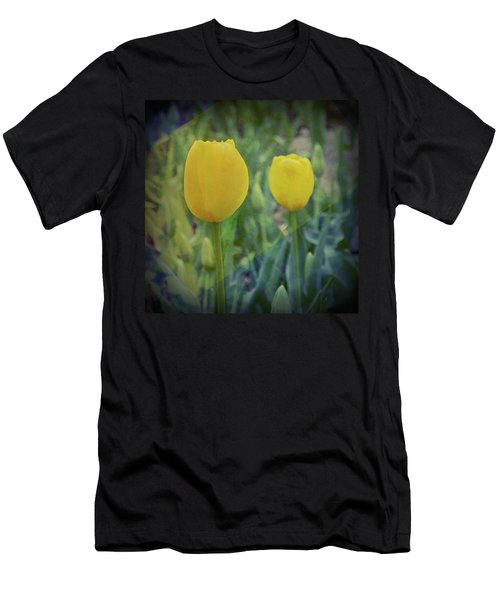 Yellow Tulip Art Men's T-Shirt (Athletic Fit)
