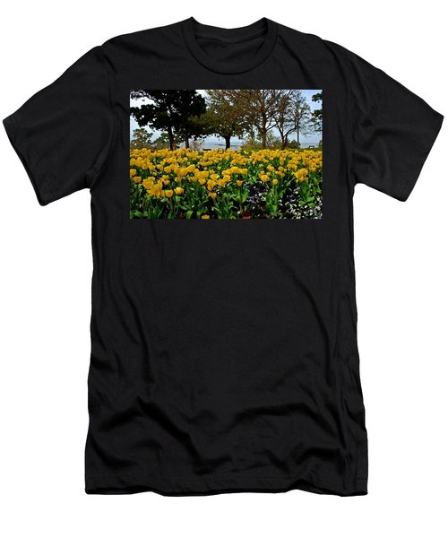 Yellow Tulips Of Fairhope Alabama Men's T-Shirt (Athletic Fit)