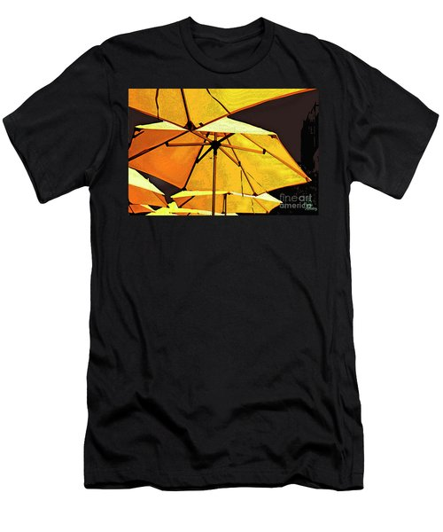Yellow Umbrellas Men's T-Shirt (Slim Fit) by Deborah Nakano