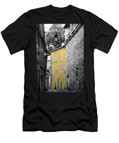 Men's T-Shirt (Athletic Fit) featuring the photograph Yellow Wall by Rasma Bertz