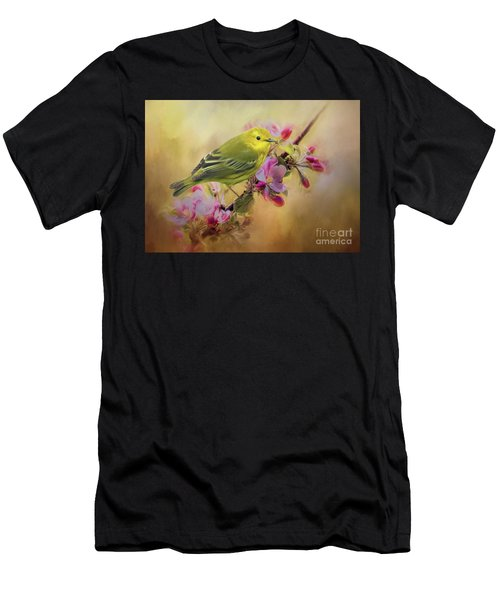 Yellow Warbler In The Flowers Men's T-Shirt (Athletic Fit)