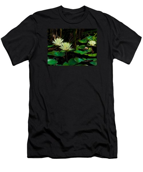 Yellow Water Lilies Men's T-Shirt (Athletic Fit)