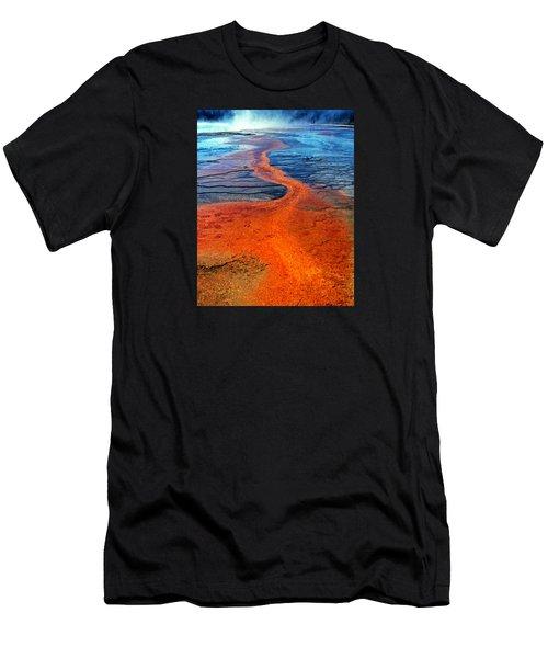 Yellowstone 1 Men's T-Shirt (Slim Fit) by David Gilbert