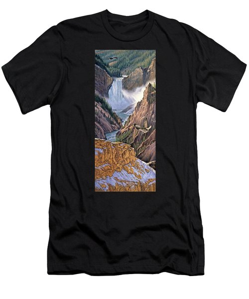 Yellowstone Canyon-osprey Men's T-Shirt (Athletic Fit)