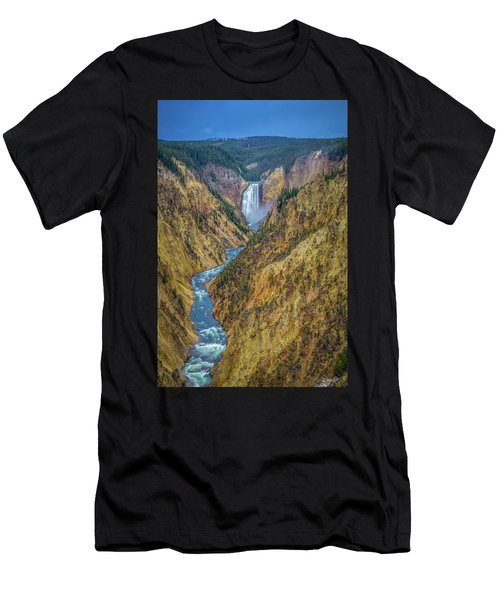 Yellowstone Falls Men's T-Shirt (Athletic Fit)