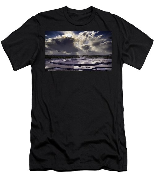 Yellowstone Geysers And Hot Springs Men's T-Shirt (Athletic Fit)