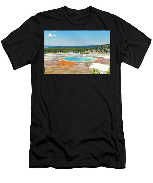 Yellowstone Grand Prismatic Spring  Men's T-Shirt (Athletic Fit)