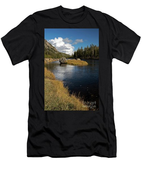 Yellowstone Nat'l Park Madison River Men's T-Shirt (Slim Fit) by Cindy Murphy - NightVisions