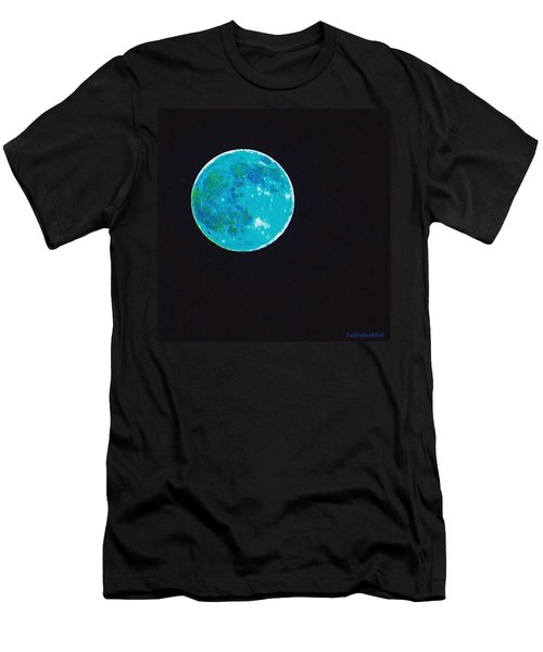 Yes, The #moon Over #texas Was #blue Men's T-Shirt (Athletic Fit)