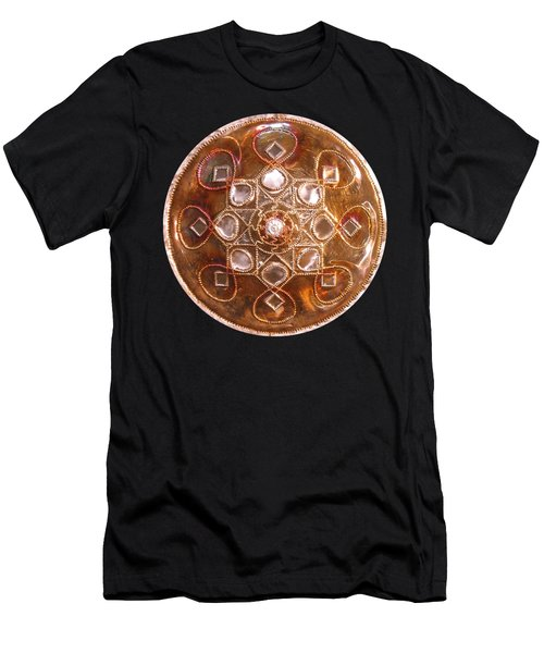 Yesirah Copper Lightmandala Men's T-Shirt (Athletic Fit)