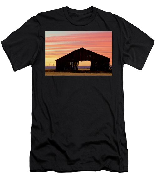 Yesterday And Today At Sunset Men's T-Shirt (Athletic Fit)