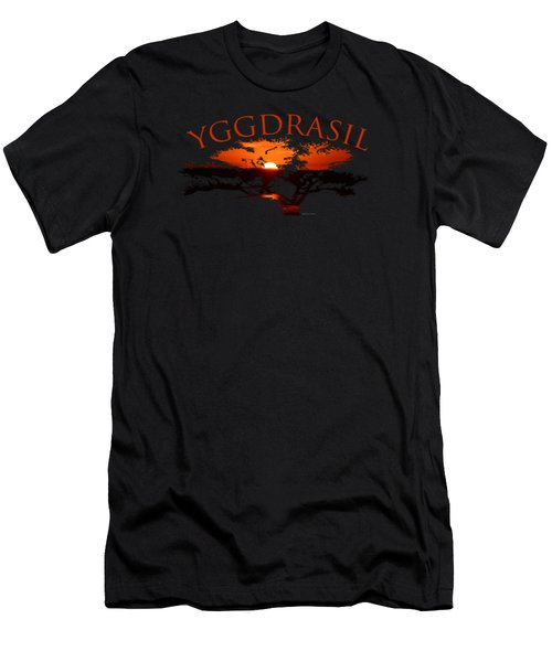 Yggdrasil- The World Tree Men's T-Shirt (Athletic Fit)
