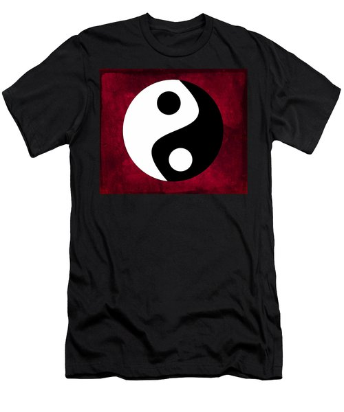 Men's T-Shirt (Athletic Fit) featuring the digital art Yin And Yang by Marianna Mills