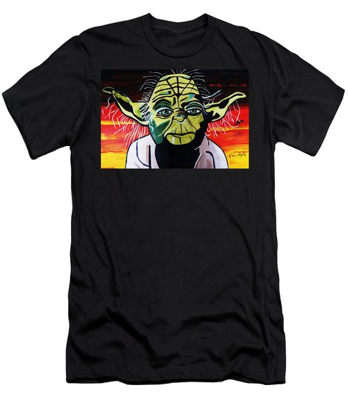 Yoda  Come Home Men's T-Shirt (Slim Fit) by Nora Shepley