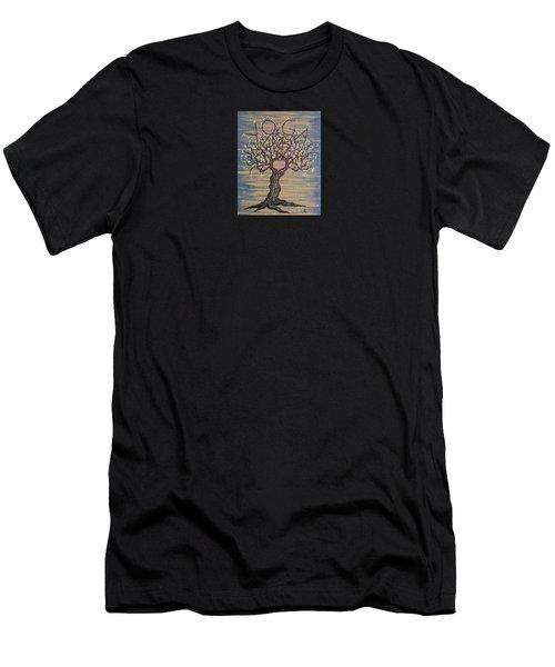 Yoga Love Tree Men's T-Shirt (Athletic Fit)