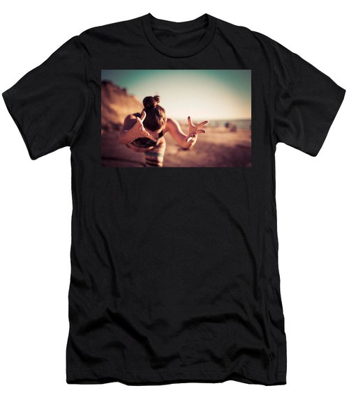 Men's T-Shirt (Athletic Fit) featuring the photograph Yogic Gift by T Brian Jones