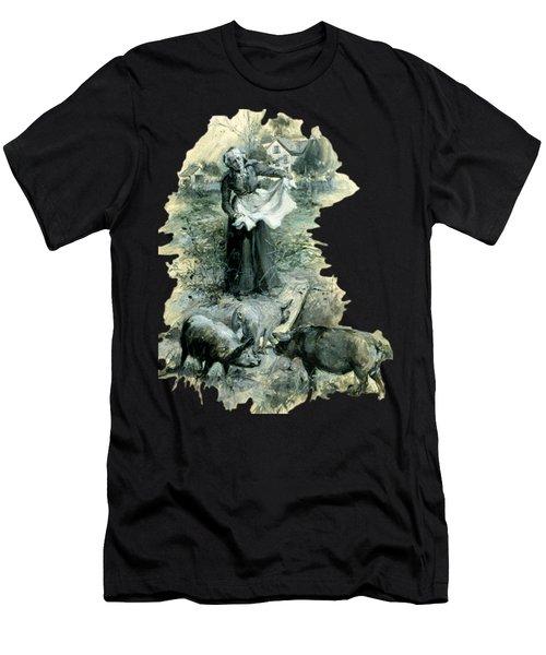 Yohn Pigs  Men's T-Shirt (Athletic Fit)