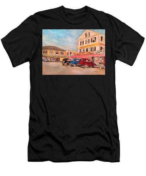 York Beach In Maine Men's T-Shirt (Athletic Fit)