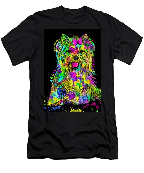 Yorkie Beauty Men's T-Shirt (Athletic Fit)