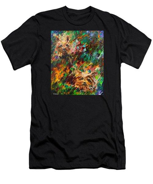Yorkies Men's T-Shirt (Athletic Fit)