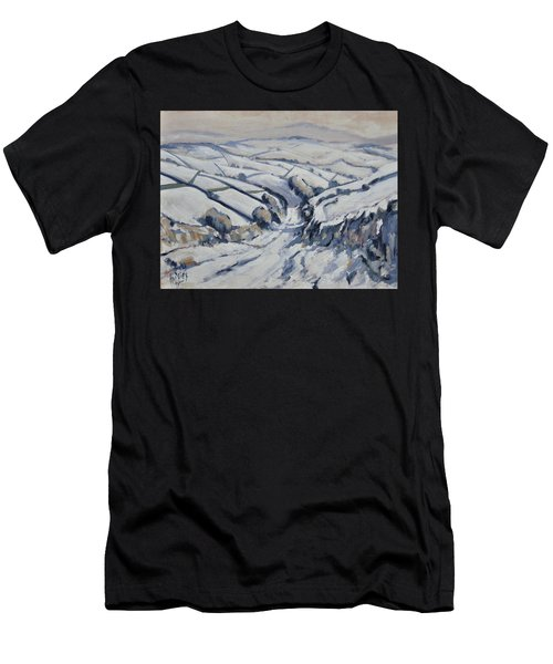Yorkshire In The Snow Men's T-Shirt (Athletic Fit)