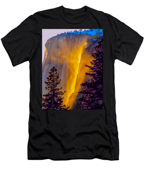 Yosemite Firefall Painting Men's T-Shirt (Athletic Fit)