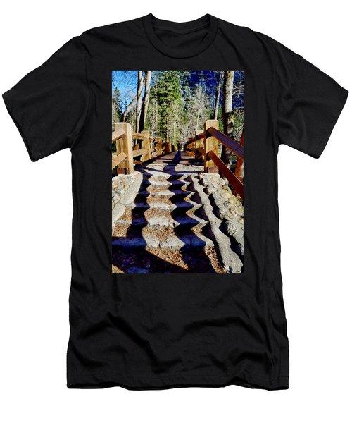 Yosemite Footbridge  Men's T-Shirt (Athletic Fit)
