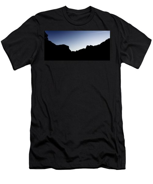 Yosemite In Silhouette Men's T-Shirt (Athletic Fit)