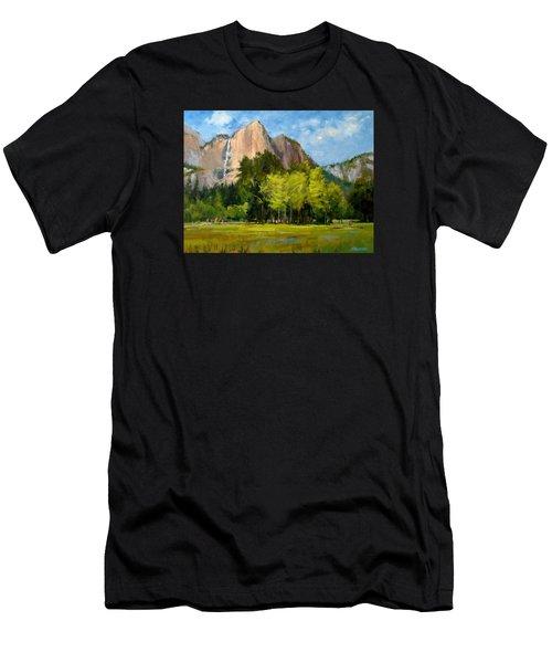 Yosemite - Ribbon Falls Men's T-Shirt (Athletic Fit)