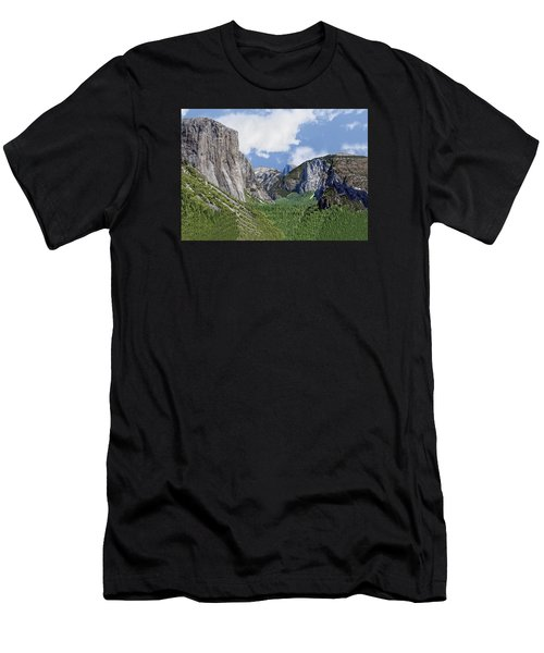 Yosemite Tunnel View Men's T-Shirt (Athletic Fit)