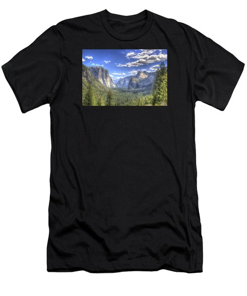 Yosemite Valley Hdr Men's T-Shirt (Athletic Fit)