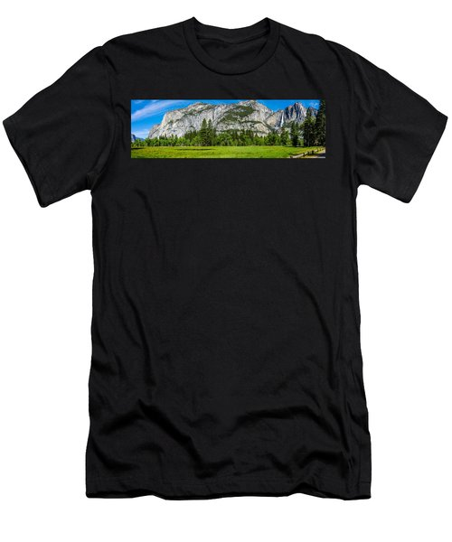 Yosemite Valley Meadow Panorama Men's T-Shirt (Athletic Fit)