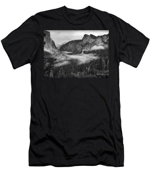 Men's T-Shirt (Slim Fit) featuring the photograph Yosemite Wawona Cloudscape by Martin Konopacki