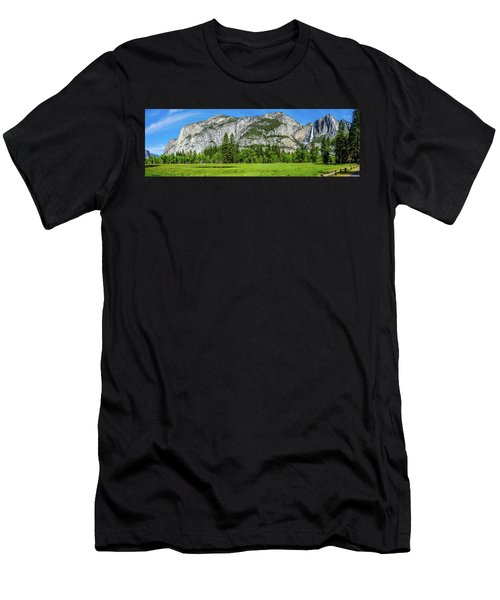Yosemite West Valley Meadow Panorama #2 Men's T-Shirt (Athletic Fit)