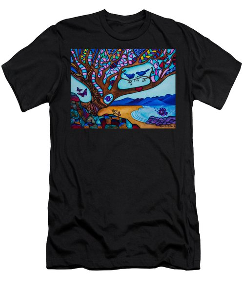 Love Is All Around Us Men's T-Shirt (Athletic Fit)