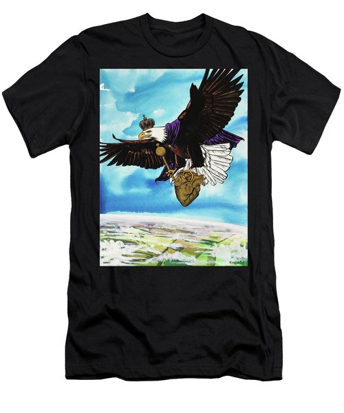 Men's T-Shirt (Athletic Fit) featuring the painting You Can Soar by Nathan Rhoads