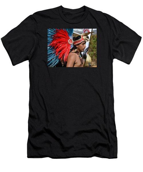 Young Aztec Portrait Men's T-Shirt (Athletic Fit)